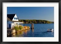 Framed Wolfeboro Dockside Grille on Lake Winnipesauke, New Hampshire
