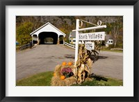 Framed Covered Bridge in downtown Stark, New Hampshire