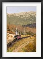Framed Cog Railroad on Mt Washington, New Hampshire