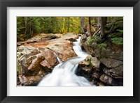 Framed Autumn on Pemigewasset River, Franconia Notch SP, New Hampshire