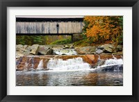 Framed Covered bridge over Wild Ammonoosuc River, New Hampshire