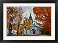 Framed Meeting House at Sugar Hill, New Hampshire