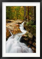 Framed Pemigewasset River in Franconia Notch State Park, New Hampshire