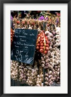 Framed Ropes of Garlic in Local Shop, Nice, France