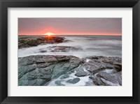 Framed Sunrise near Brenton Point State Park, Newport, Rhode Island