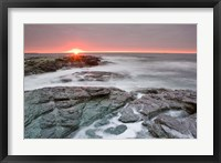 Framed Sunrise near Brenton Point State Park, Newport, Rhode Island
