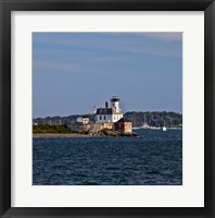 Framed Rose Island Lighthouse, Newport, Rhode Island