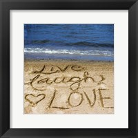 Framed Live Laugh Love In The Sand