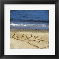 Framed Love In The Sand