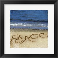 Framed Peace In The Sand