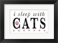 Framed I Sleep with Cats