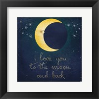 Framed I Love You To The Moon 1
