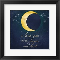 Framed I Love You To The Moon 2