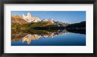 Framed Mt Fitzroy Reflections, Laguna Capri, Argentina