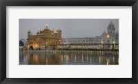 Framed Golden Temple at Dusk, Amritsar, India