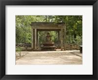 Framed Samadhi Buddha (4th century), Meditation pose, Sri Lanka