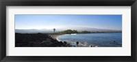 Framed Keawaiki Bay, Black Sand Beach, Big Island, Hawaii