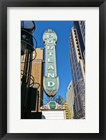 Framed Portland Landmark Sign, Portland, Oregon