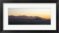 Framed Downtown Los Angeles at Dusk, California