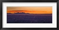 Framed Buildings and San Bernardino Mountains, California
