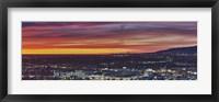 Framed Los Angeles at Night, California