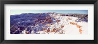Framed Bryce Canyon with Snow, Utah