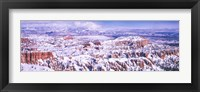 Framed Snow Covered Bryce Canyon, Utah