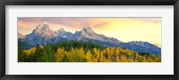 Framed Sunrise Over Mountain Range, Grand Teton National Park, Wyoming