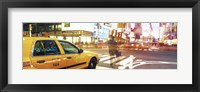 Framed Blurred Traffic in Times Square, New York City