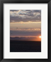 Framed Hot Air Balloons at Dusk, Namib-Naukluft National Park, Namibia