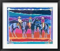Framed Three Cowgirls