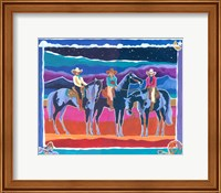 Framed Three Cowgirls