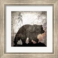 Framed Calling Bear