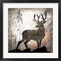 Framed Calling Deer