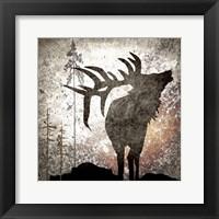 Framed Calling Elk
