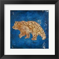 Framed Lodge Pole Pine Bear