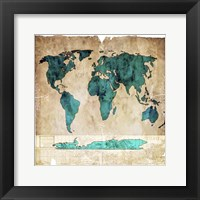 Framed Sea Map I