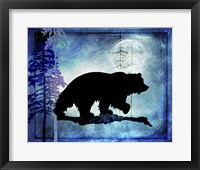 Framed Midnight Bear