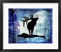 Framed Midnight Elk