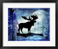 Framed Midnight Moose