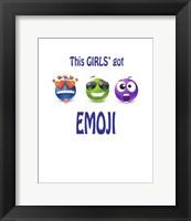 Framed This Girls Got Emoji