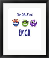 Framed This Girls Got Emoji