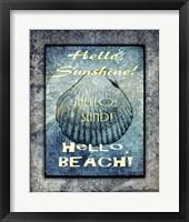 Framed Hello Beach