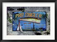 Framed Fishing - Bass Lure Poppy Sign