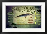 Framed Fishing - Deep Blue LLC sign