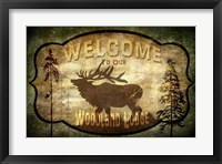 Framed Welcome - Lodge Elk