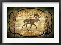 Framed Welcome - Lodge Moose