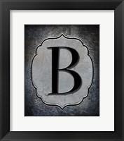 Framed Letter B