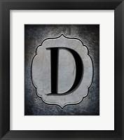 Framed Letter D