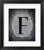 Framed Letter F